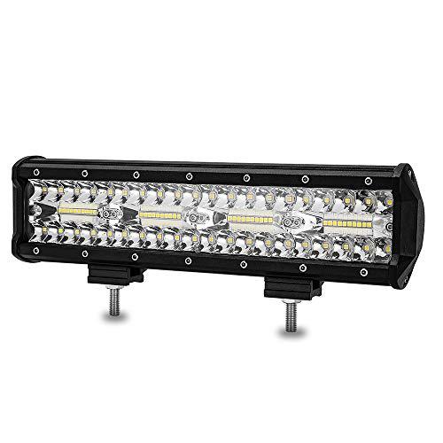 12 Inch Led Light Bar - BEAMCORN 240W Spot Flood Combo Super Bright Driving Fog Light for Off Road Trucks ATV UTV SUV Pickup 12V Vehicles