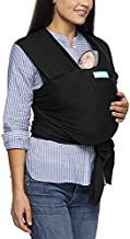 Moby Wrap Baby Carrier   Evolution   Baby Wrap Carrier for Newborns & Infants   #1 Baby Wrap   Baby Gift   Keeps Baby Safe & Secure   Adjustable for All Body Types   Perfect for Mom & Dad   Black