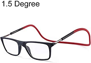 SGJFZD Anti Blue-ray Adjustable Neckband Magnetic Fashion Design Connecting Presbyopic Glasses, 1.50D (Color : Red)