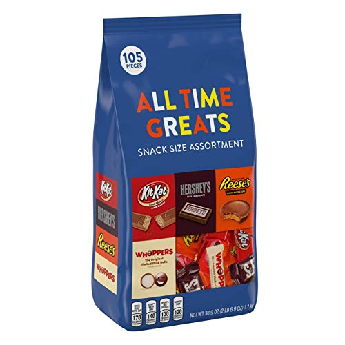 HERSHEY'S Alll Time Greats Chocolates Variety Assortment, REESE'S, KIT KAT, HERSHEY'S, WHOPPERS, 2 Pound Bag