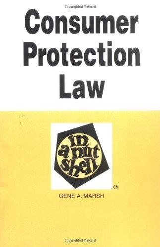 Consumer Protection Law in a Nutshell (Nutshells)