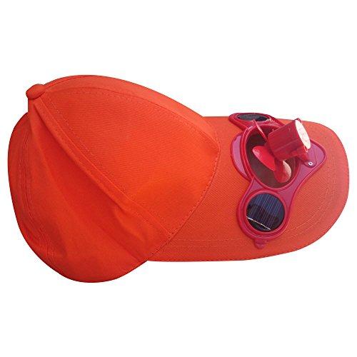 Solaration® 7001 Beige Fan Hat w/Solar Panel on the Cap Front