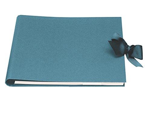 Rössler Papier - Forever - Fotoalbum/gastenboek (60 witte pagina's, 30 vellen, 29 x 24 cm) met strik