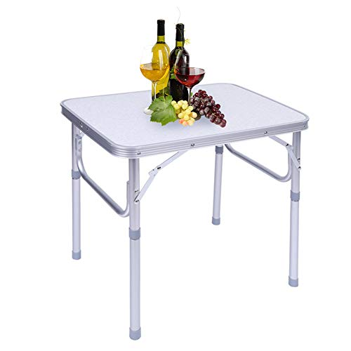Greensen Camping Table Aluminum Folding Table Garden Table Height Adjustable Picnic Table Aluminum Table BBQ Table Outdoor Foldable Side Table Work Table Balcony Table Travel Table Camping Furniture