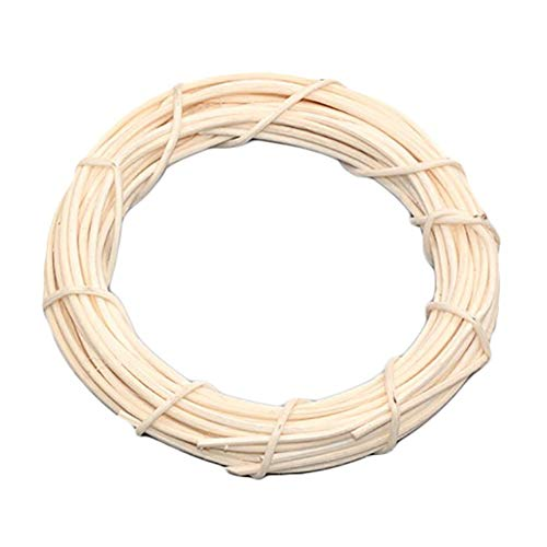 Fablcrew - 1 ghirlanda di vimini, da appendere, ciondolo decorativo per feste, matrimoni, Natale, decorazione di Natale, colore: bianco, misura 15 cm