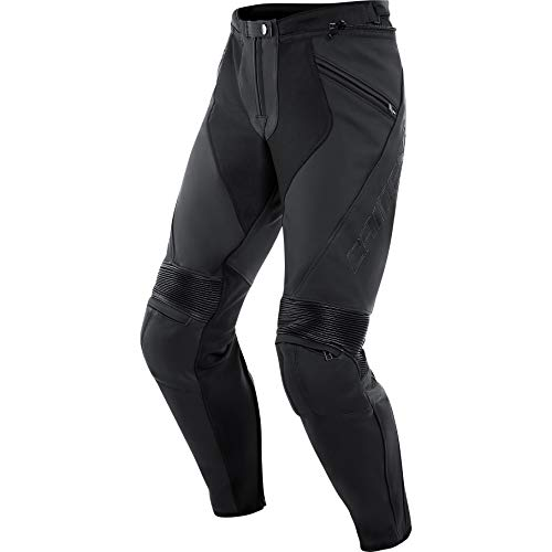 Dainese Motorradhose Pony 3 Lederhose schwarz 50 (M), Herren, Sportler, Ganzjährig