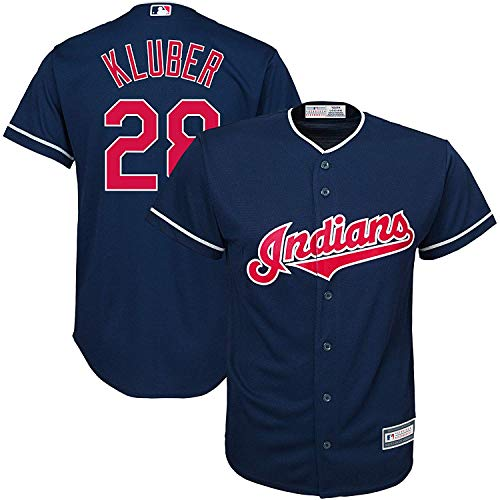 Corey Kluber Cleveland Indians MLB Majestic Youth 8-20 Navy Alternate Cool...