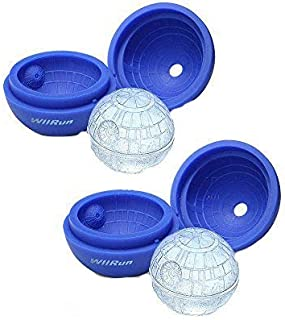 Sponsored Ad - WllRun 2 Packs Star Wars Death Star Silicone Ice Cube Mold Tray,Chocolate Maker Tools,Ice Ball Shape for Dr...