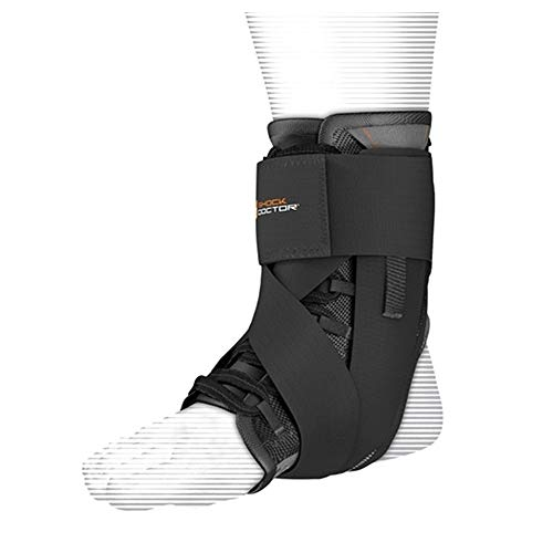 Shock Doctor Ultra Wrap Lace Ankle Support (Black, Large,9-9.5)