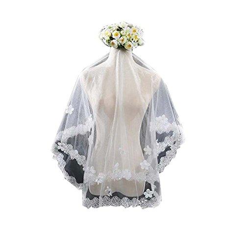 Voile de mariage blanc Voiles de tulle de mariée Elegant Women Veil # 2