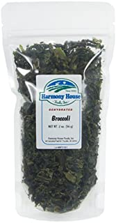 Harmony House Foods Dried Broccoli, Flowerets (2 oz, ZIP Pouch) for Cooking, Camping, Emergency Supply, and More