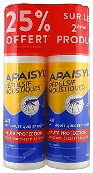 Apaisyl Répulsif Moustiques Lait Haute Protection Lot de 2 x 90 ml