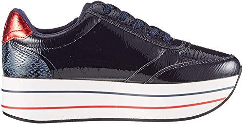 s.Oliver Damen 5-5-23641-34 Sneaker, Blau (Navy Patent 832), 42 EU