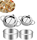 Stainless Steel Dumpling Maker 4 Pcs Small and Large Dumpling Mold Dough Press Cutter Wrapper Pie Crimper Pastry Tools Ravioli Mould.