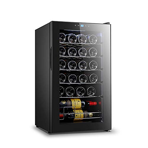 Wine Cooler Dual Zone 24 Bottle Wine refrigerator Built in or Freestanding with Fashion Look Quick and Silent Cooling System Double Layer Tempered Glass Door
