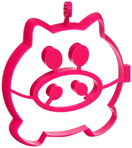 Tovolo Pig Breakfast Shaper Kids, Reusable Pancake Art Batter Mold, Heat-Resistant & BPA-Free Silicone, Dishwasher-Safe, Pink