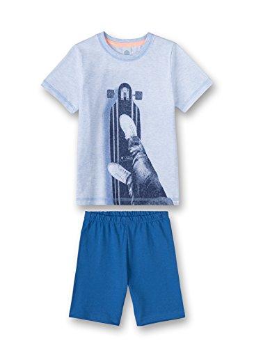 Sanetta Jungen Pyjama Short Zweiteiliger Schlafanzug, Blau (Bleu Melange 50240.0), 104