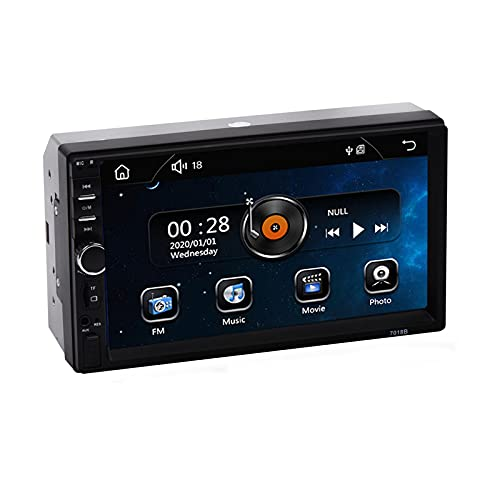 Sulfar Double Din Car Music System Car Stereo with Touch Screen, Mirror Link, Bluetooth, Car Media Player