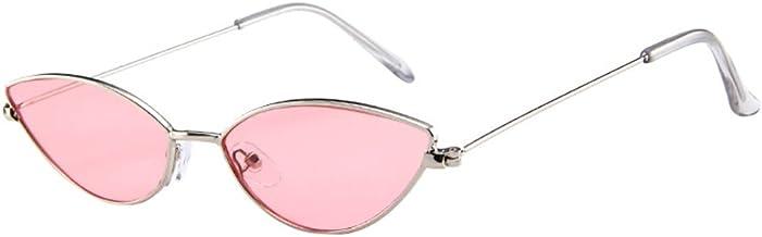 Lazzboy Unisex Vintage Eye Sunglasses Retro Eyewear Fashion Radiation Protection Damen Katzenaugen Sonnenbrille Kleine Rahmen Brillen