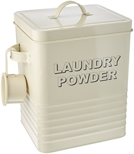 Lesser und Pavey 24 cm Home Sweet Home Laundry Powder Box, cremefarben