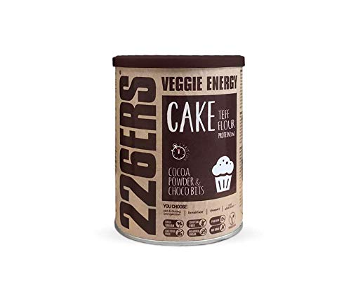 226ERS Evo Vegan Energy Cake - Gluten Free Cake Mix with Minerals and Amino Acids, Chocolate & Choco Bits - 480 gr