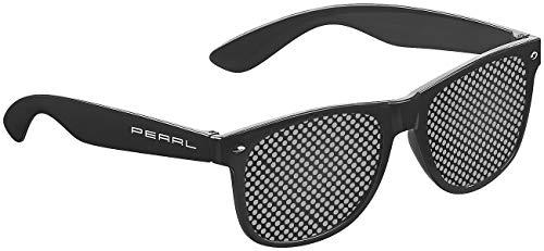 PEARL Rasterbrille: Lochbrille zur Augen-Gymnastik und -Entspannung, schwarz (Rasterbrille Lochbrille)