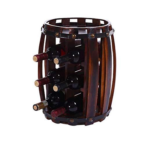 MUMUMI Estante de Exhibición de Vino, Estante de Vino de Barril de Vino de Roble Estante de Vino Barril de Vino Bodega Utensilios de Vino Estante de Copa de Vino,S,Los 26 × 27 × 40Cm