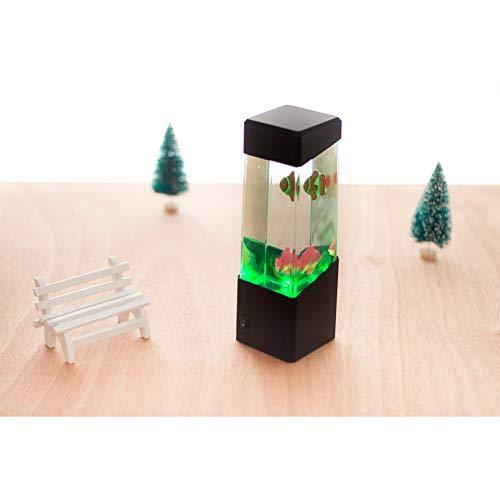 CanKunKeMao light Méduse LED Lampe, Méduse Créative Nuit Lumière Artificielle Méduses Natation Aquarium Sea World Mood Lampe pour Cadeaux pour Enfants Bureau Chambre Décoration De La Maison 1W 12V,b