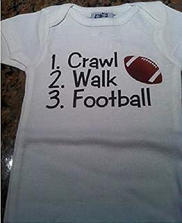 crawl walk football infant one piece football baby boy bodysuit