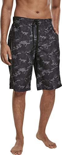 Urban Classics Herren Board Bermuda Shorts Badehose, Black camo, XXL