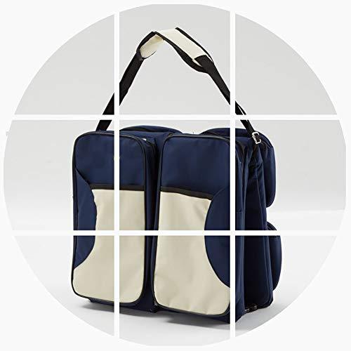 WXWX 3 in 1 tragbare Wickeltasche Reise Klapp Kinderbett Multifunktions Wickeltasche Baby Pad,Blue