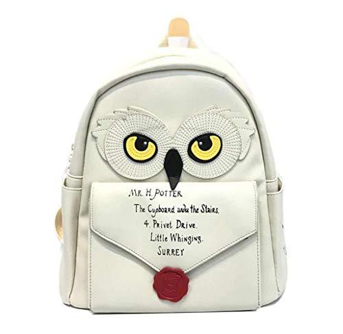 ghn Large Capacity Soft Shopping Bags H. Potter Hogwarts MINI Bag Women Girls Hedwig Owl Backpack School Bag Hogwarts Letter Girls Cute School Bag Women