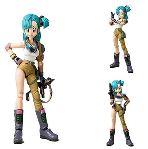13.5Cm Anime Dragon Ball Buruma Soldado Accesorios Modelo SHF Figuras de acción Juguetes Dragon Ball Bulma Dolls