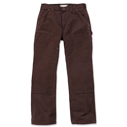 Carhartt Workwear Hose Washed Duck Work Dungaree EB136 Arbeitshose, dunkelbraun Gr. 42/32, EB136