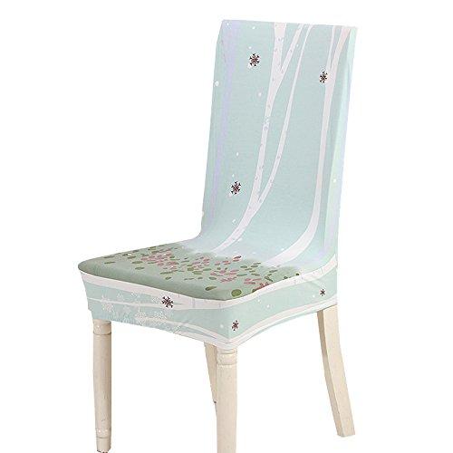 TEERFU Lot de 4 housses de chaise de salle à manger amovibles et lavables en élasthanne pour hôtel et cérémonie de mariage