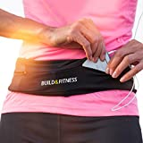 Cinturón de correr y aptitud cinturón, funda cinturón con clip para llaves, adapta tu iPhone 6,7,8 plus, X. Unisexo. Para Gimnasio Entrenamiento, ejercicio, Ciclismo, Caminar, Correr