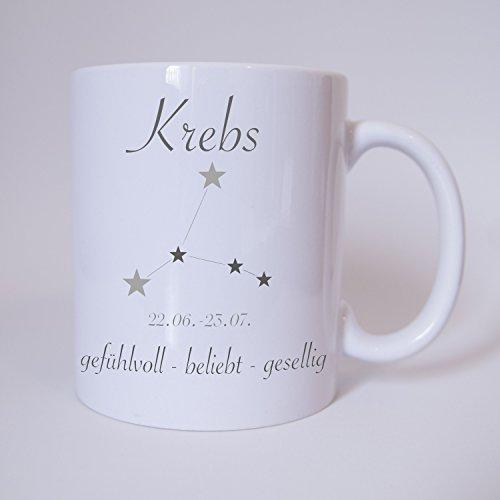 Sternzeichen Krebs - Tasse - Kaffeetasse - Tasse mit Spruch