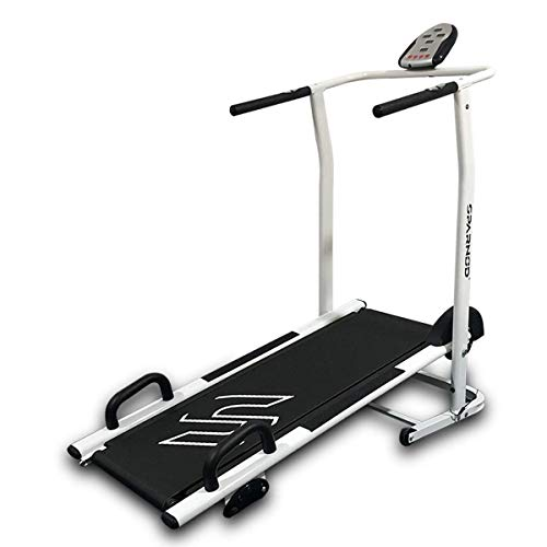 Sparnod Fitness STH-500 Manual Treadmill Running Machine for Home Gym - Foldable, 120-kg Max User Weight (DIY Installation) -...