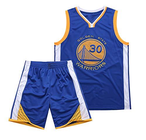 Es un Regalo para los fanáticos de # 30 Stephen Curry Golden State Warriors Traje de Baloncesto sin Mangas Top de Verano Chaleco Fresco Camisa Niños Estudiantes Adolescentes Adecuado para Adultos-bl