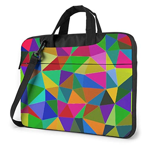 Colorful Triangles(4) Laptop Tote Bag Compatible with 13-15.6in Laptop MacBook Pro Carrying Shoulder Handbag Briefcase