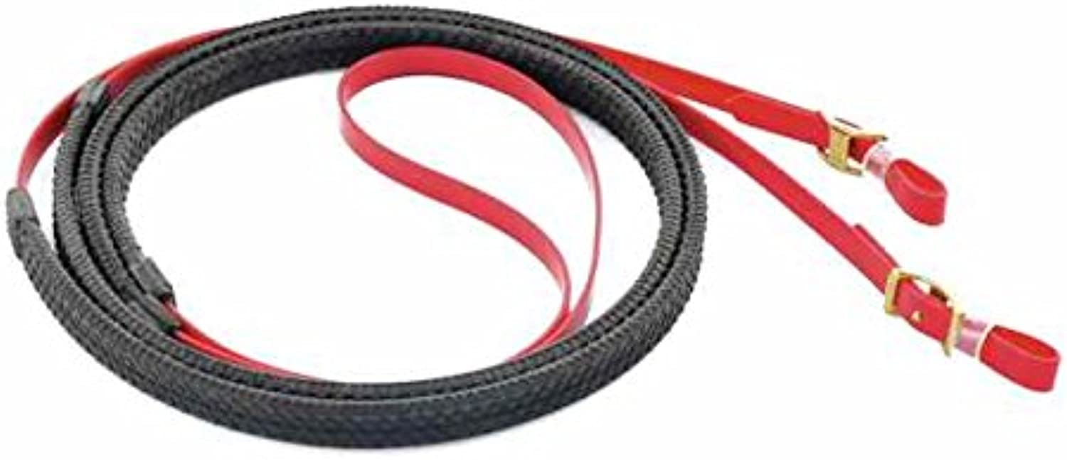 Biothane Reins In With Rubber Coating and Brass Buckles Umbria Riding Reins umbriaequitazione