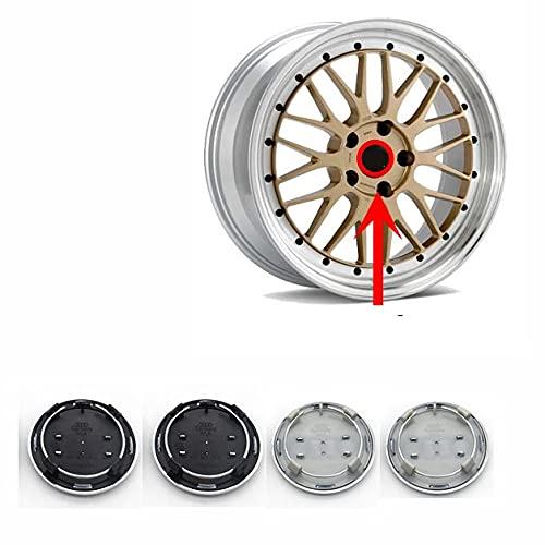 4piezas 69mm Coche Tapas Centrales Tapacubos Con Emblema De Insignia Embellecedor Central Para Audi A3 A4 A5 A6 A7 A8 S4 S6,Tapacubos Rueda Tapa Decorativa Accesorios(4B0601170A)