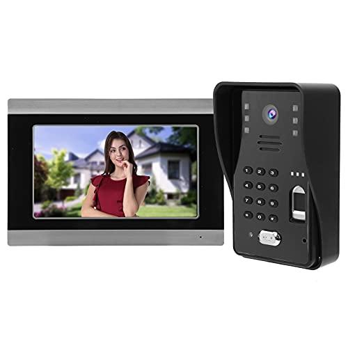 7 pulgadas con cable Videoportero Contraseña 1 Monitor Wifi para TUYA APP...