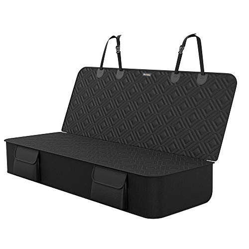 FEANDREA Hundedecke für den Rücksitz, Autoschondecke, schwarz PDS049B01