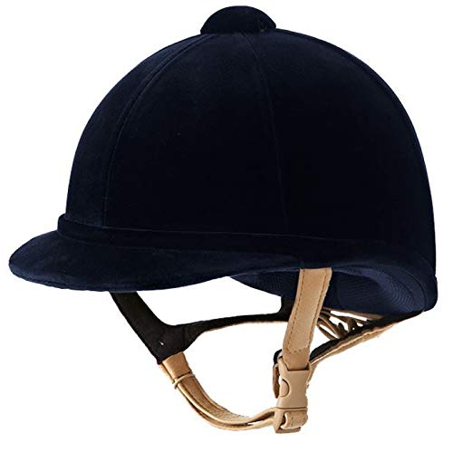 Charles Owen Hampton Riding Hat Helmet Blue 56cm