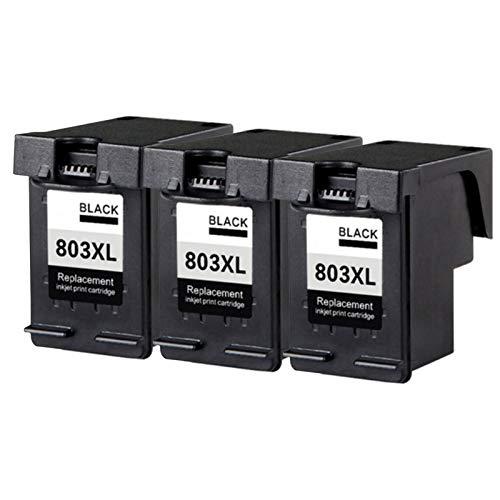 Reemplazo de cartuchos de tinta compatible adecuados para HP803XL, para DeskJet 1110 2130 2131 2132 2134 Impresora 3*black