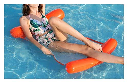 JLZK Sicurezza Piscina Gonfiabile Galleggiante Bed Piscina Materasso ad Acqua Hammock Float Lounger Giocattolo Sedia Gonfiabile di Anello di Nuoto Pool Party .Precisione (Color : Orange)