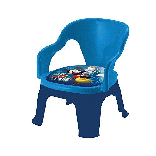 MICKEY - Sedia in Plastica con Cuscino