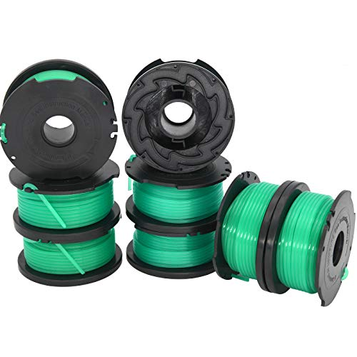 gh3000 Trimmer Spool Replacement, sf-080 Spool Line Compatible with Black and Decker SF-080 GH3000 LST540 Weed Eater, 20ft 0.080 inch GH3000R LST540B Edger Refills(8-Pack)