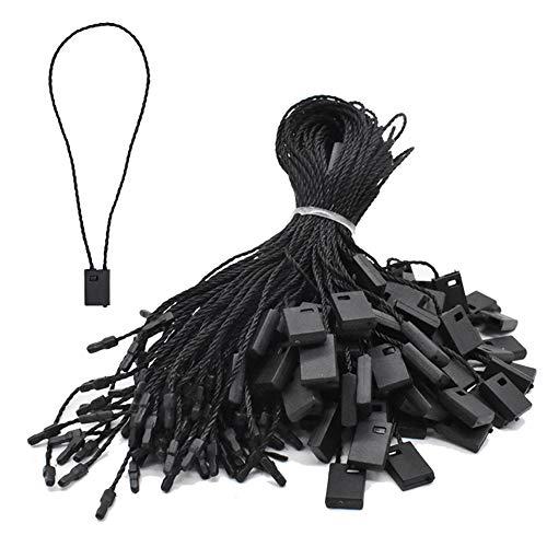 7 Inch Hang String Tag Fasteners Nylon Snap Lock Pin Loop Fastener Hook Ties 1000Pcs (Black)